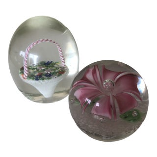 Easter Appropriate Paper Weights - a Pair For Sale