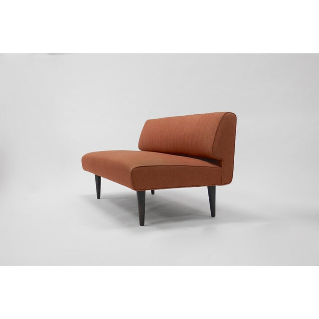 Mid-Century Modern Channel back settee by Edward Wormley for Dunbar For Sale - Image 3 of 8