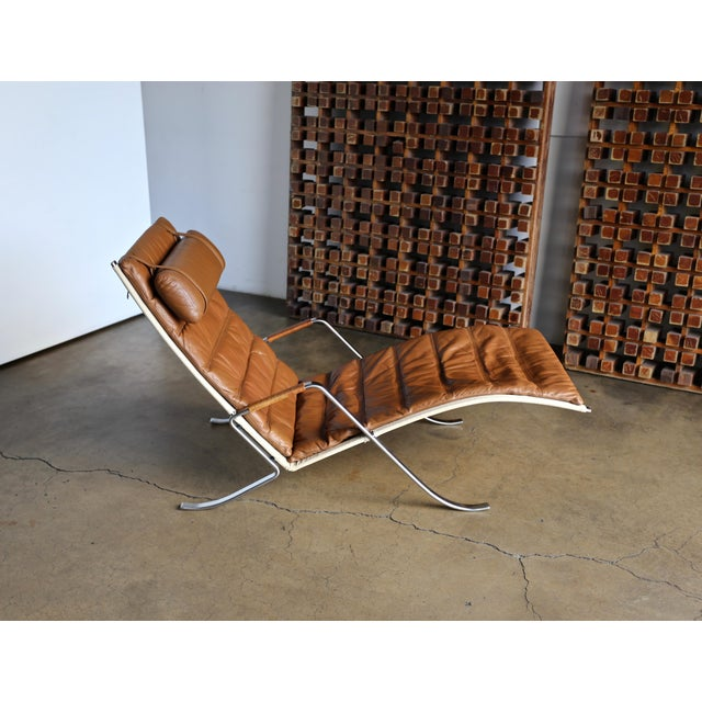 Preben Fabricius and Jørgen Kastholm Grasshopper Chaise for Alfred Kill For Sale - Image 9 of 13