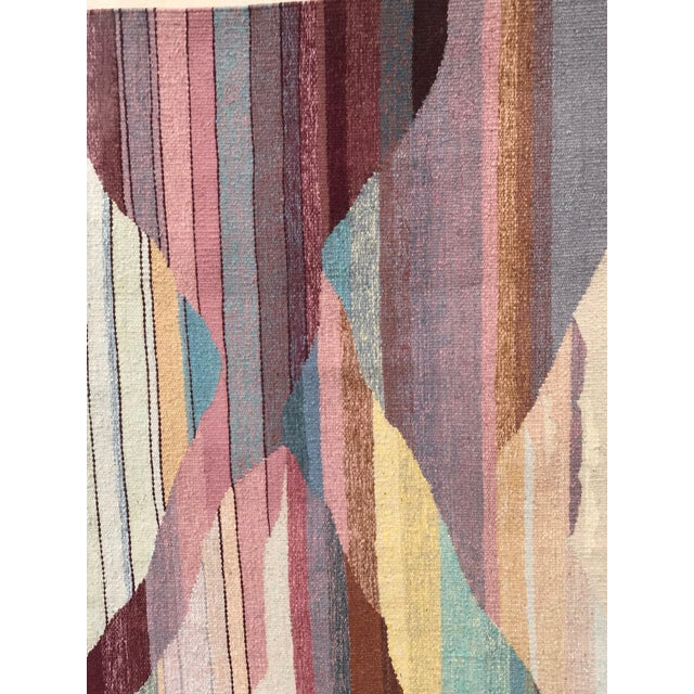A beautiful Vintage woven abstract from a Steve Chase designed Estate. We love it vertically, but also can be hung...