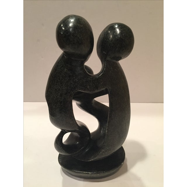 Vintage Stone Sculpture: Family - Image 3 of 7