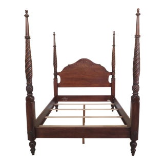Ethan Allen Old World Treasures Queen Size Plantation Poster Bed For Sale