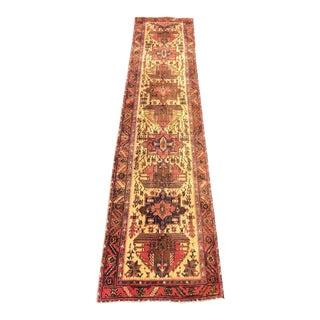 "Vintage Persian Sarab Runner Rug - 3'3"" x 14'"