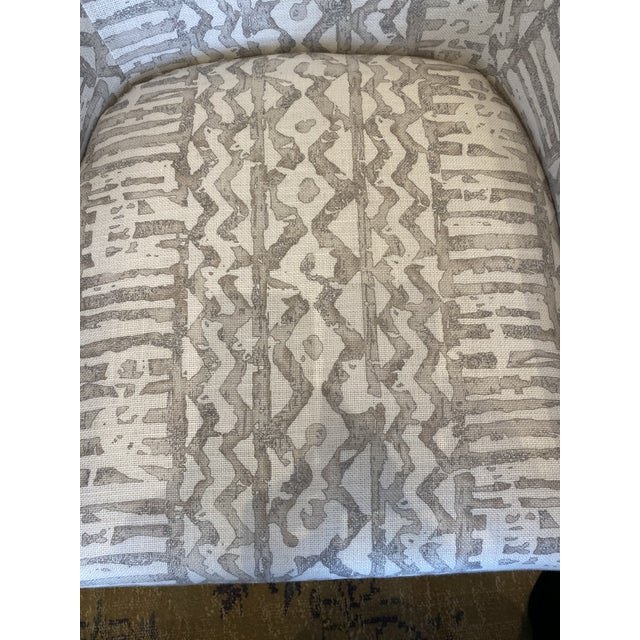 1970's Club Chair Reupholstered in Mark Alexander Linen - 2 Available For Sale In Los Angeles - Image 6 of 9