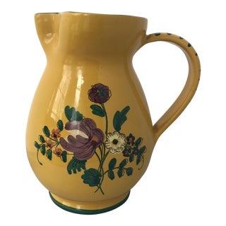 Small Italian Pottery Floral Pitcher Vase