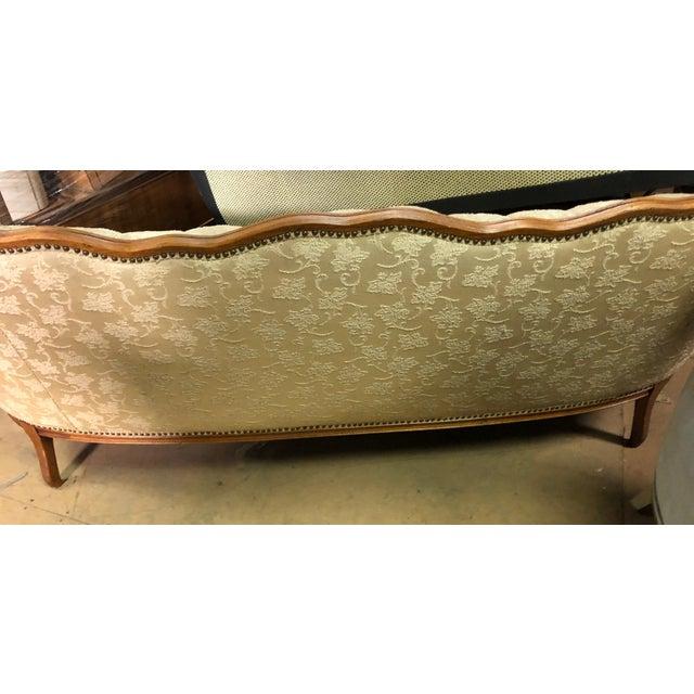 Globe Furniture Queen Anne White Sofa For Sale - Image 4 of 10