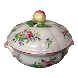 French Luneville Flowered Tureen For Sale
