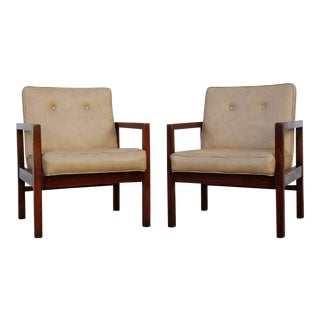 Vintage Mid-Century Walnut Chairs - a Pair