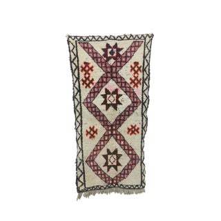 1980s Moroccan Azilal Rug - 3′3″ × 6′4″ For Sale