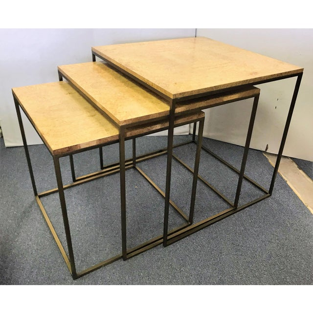 Keno Bros Burled Maple Nesting Tables - Set of 3 For Sale - Image 13 of 13