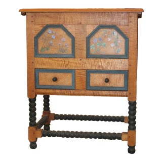 Folk Art William and Mary Blanket Chest For Sale
