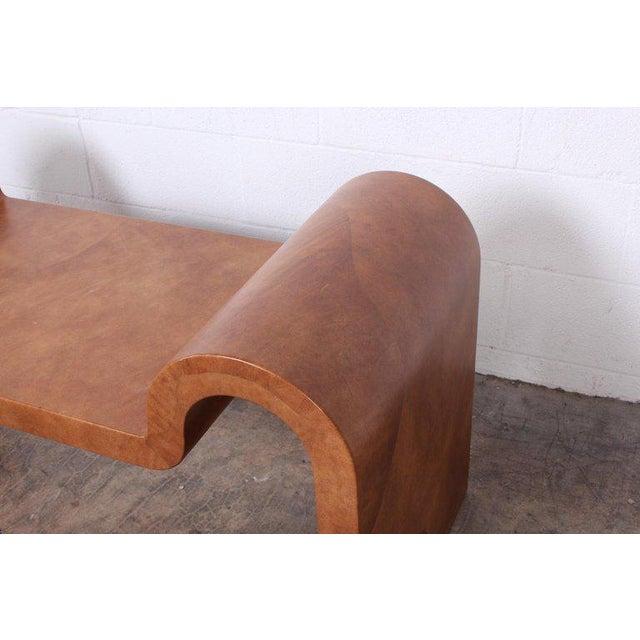 Karl Springer Goatskin Parchment Bench For Sale In Dallas - Image 6 of 13