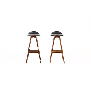 1960s Vintage Erik Buch for Od Mobler Danish Modern Rosewood Barstools - A Pair Preview