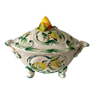 Italian Lemon Motif Tureen For Sale