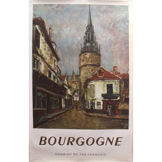 1964 Original French Travel Poster - French National Railways - Bourgogne For Sale