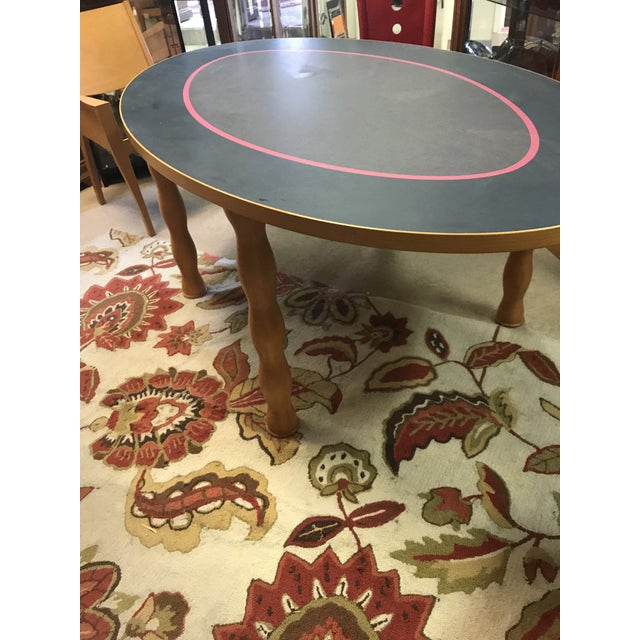 Contemporary Oval Dining Table - Image 5 of 7