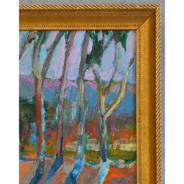 Late 20th Century Juan Pepe Guzman Santa Barbara Abstract Landscape Oil Painting For Sale - Image 5 of 9