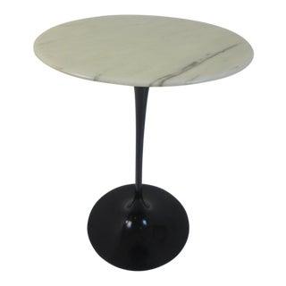 Eero Saarinen Knoll Marble Side Tulip Table in Black
