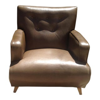 Mid-Century Modern Leather Club Chair For Sale