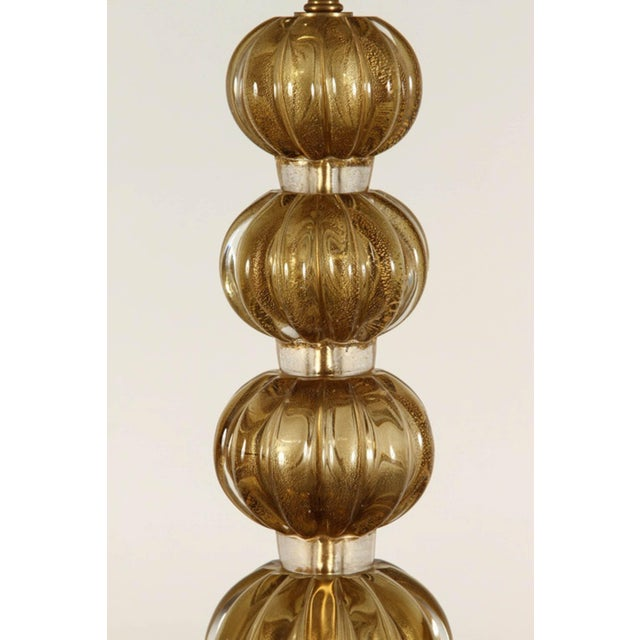 20th Century Italian Murano Glass Lamps-a Pair For Sale In Los Angeles - Image 6 of 9