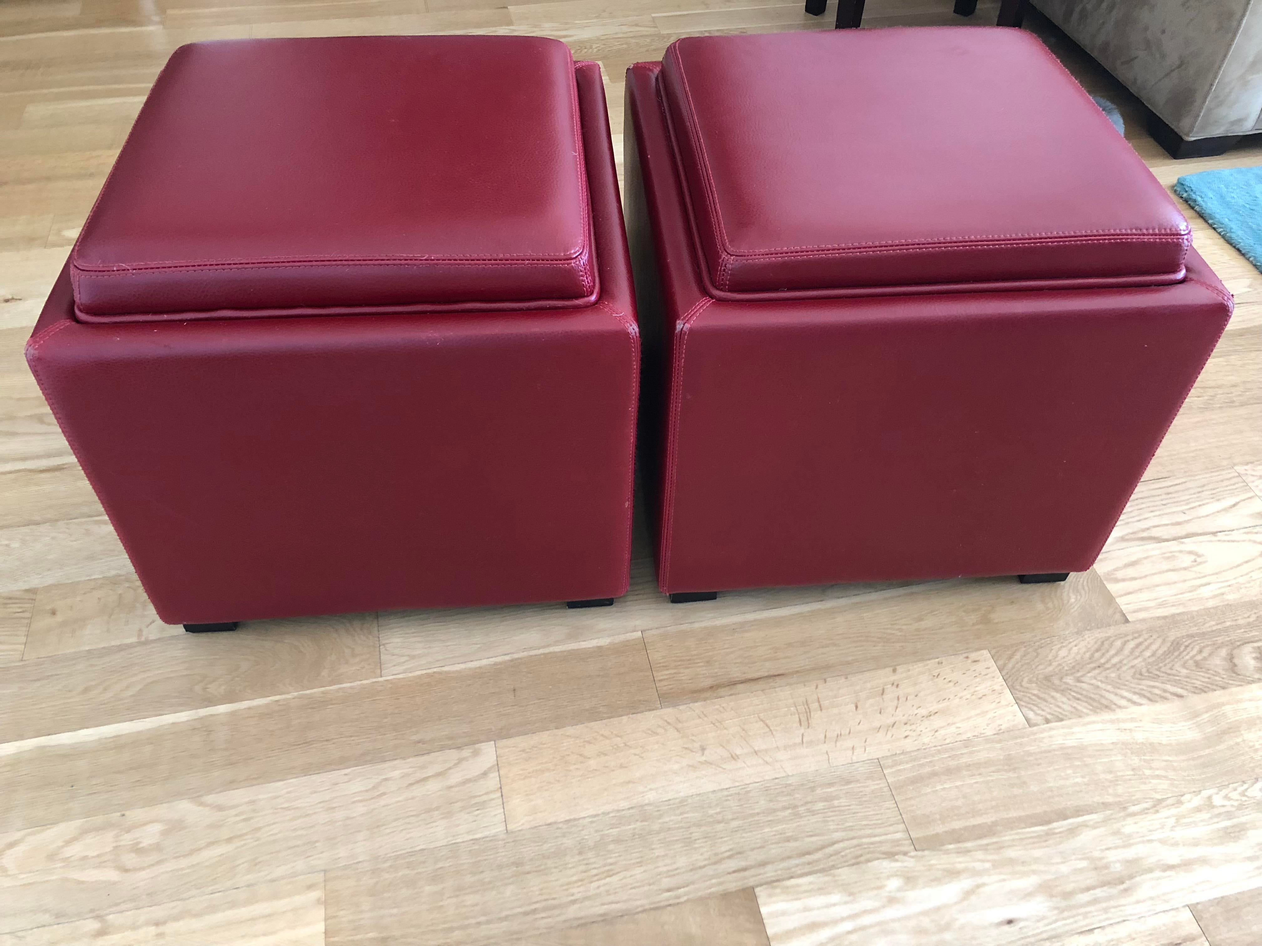 Charmant 2010s Stow Leather Storage Ottoman For Sale   Image 5 Of 5