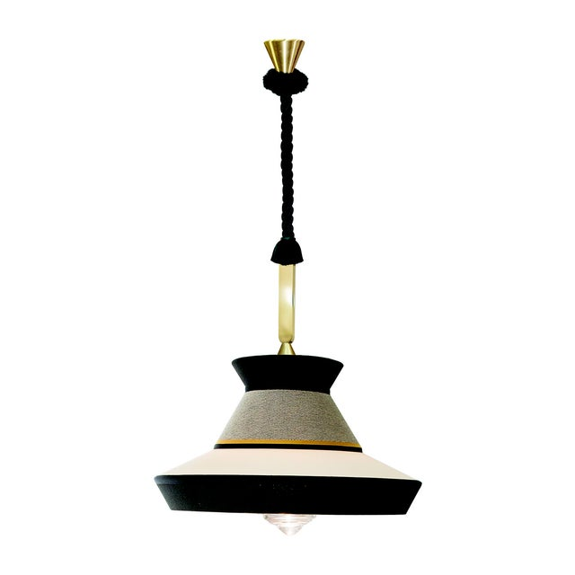 Not Yet Made - Made To Order Contardi Calypso Guadalupe XL Outdoor Pendant Light in Moss Green and Grey For Sale - Image 5 of 5