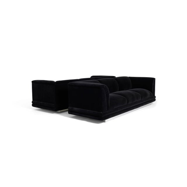 Modern Jay Spectre Sofas on Chrome Bases For Sale - Image 3 of 10