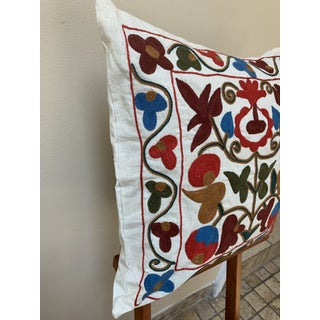 Turkish Suzani Pillow Cover - 17ʺW × 17ʺH Preview