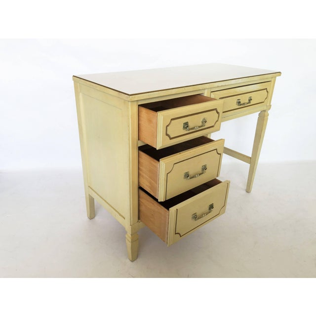 French Regency Writing Desk and Chair For Sale - Image 4 of 8