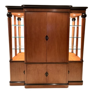 National Mount Airy Biedermeier Tv Armoire For Sale