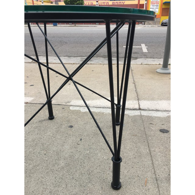 1970s 1970s Post Modern Glass Top Round Metal Side Table For Sale - Image 5 of 10