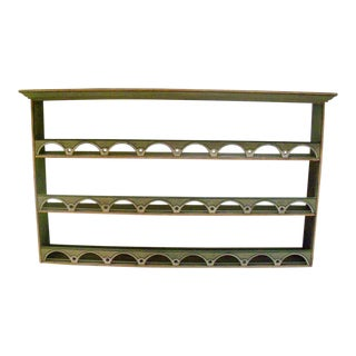 Traditional Neirmann Weeks Custom Gray Wooden Plate Rack