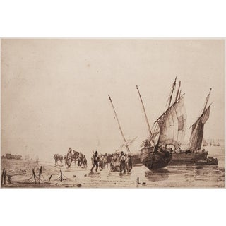 1959 Richard P. Bonington, Coastal Scene Hungarian Photogravure For Sale