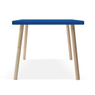 """Tippy Toe Small Square 23.5"""" Kids Table in Maple With Pacific Blue Finish Accent Preview"""