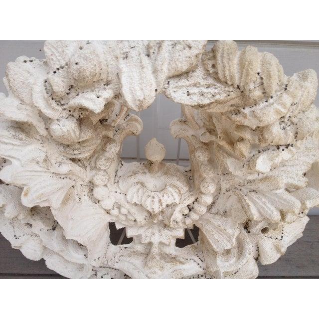 Vintage Carved Tufa Stone Floral Architectural Sculpture - Image 3 of 4