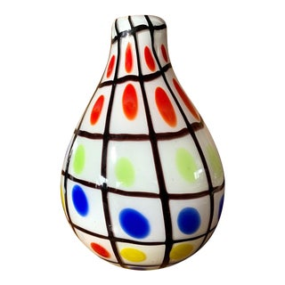 Art Glass Spotted Vase For Sale