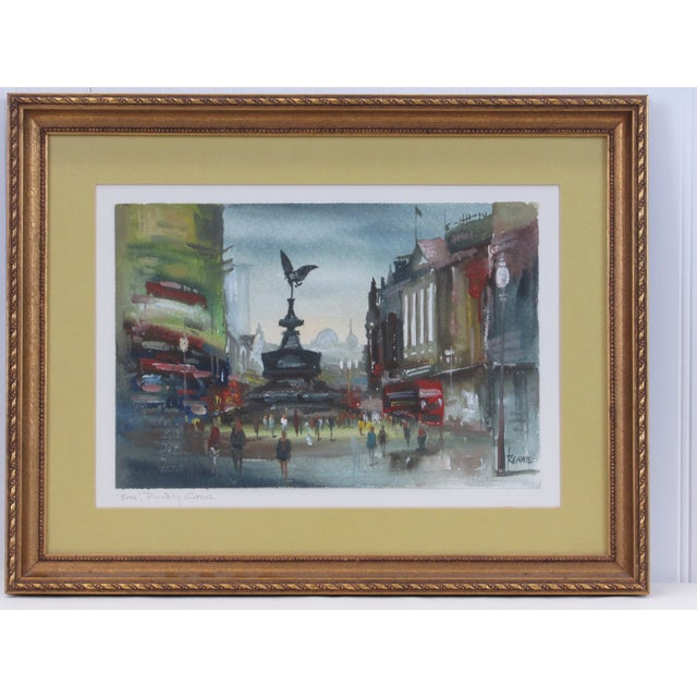 """""""Eros"""" Piccadilly Circus Painting For Sale - Image 12 of 13"""