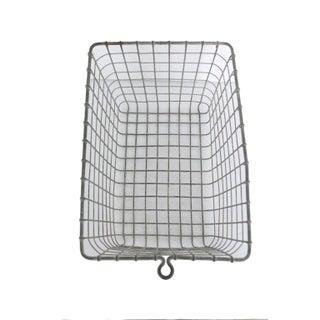 Vintage Wire Metal Locker Basket Preview