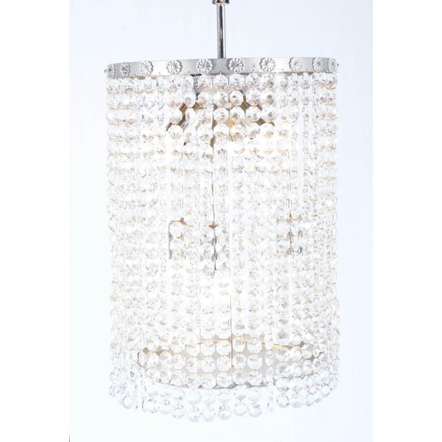 Metal Austrian Mid-Century Large Chandelier from Bakalowits, 1960s For Sale - Image 7 of 8