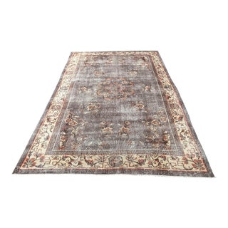Oversize Handwoven Vintage Tribal Rug - 6′7″ × 10′5″ For Sale