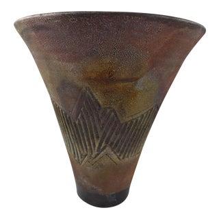 Raku Modern Pottery Vase