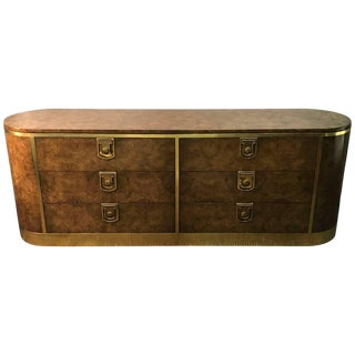 Burlwood and Brass Mastercraft Dresser