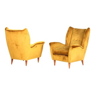 Gio Ponti Pair of Armchairs 1940 for Isa Bergamo For Sale