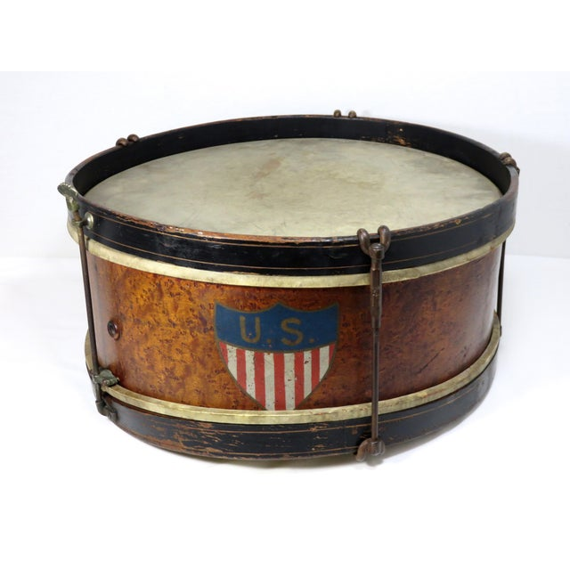 Early 20th Century Antique Parade Marching Snare Drum For Sale - Image 13 of 13