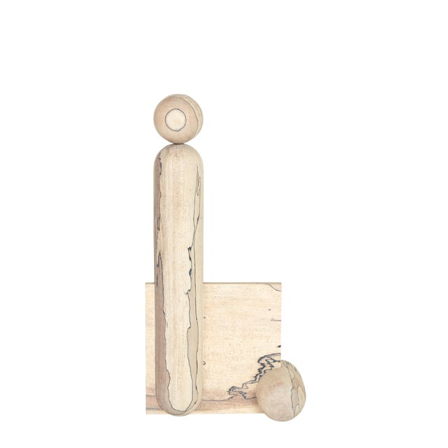 Useful/ Useless Maple Sculpture by Hamilton Holmes For Sale
