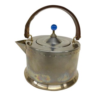 1970s Art Deco Edmund Jorgensen Steel Tea Kettle For Sale