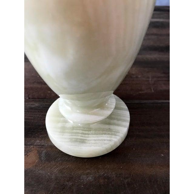 Light Green Alabaster Vase - Image 5 of 5