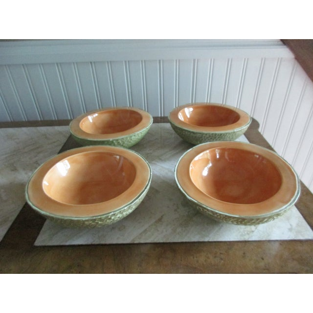 Vintage Cantaloupe Serving Bowls - Set of 4 For Sale - Image 6 of 13