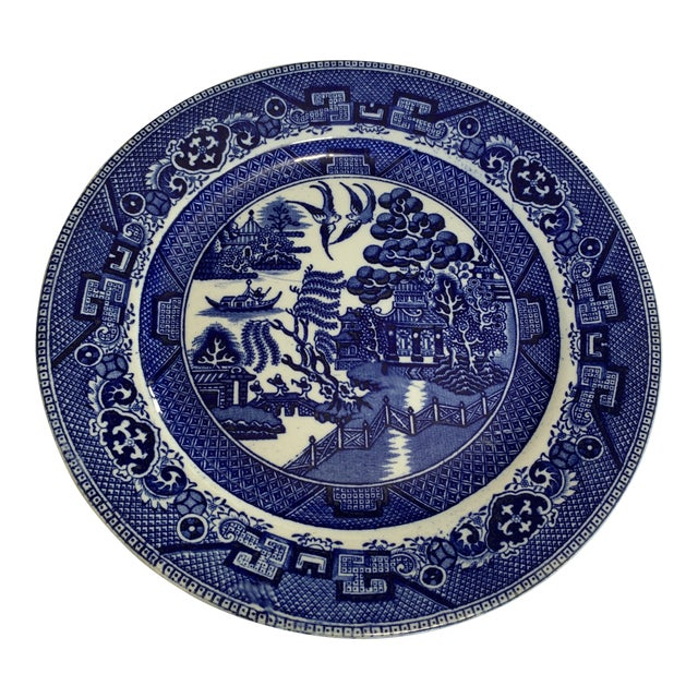 Early 20th Century Blue Willow Deep Cobalt Plate For Sale