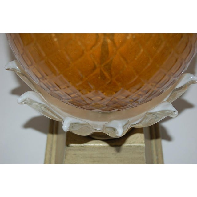 1950s Vintage Murano Glass Pineapple Table Lamp Gold Large For Sale - Image 5 of 10